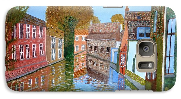 Galaxy Case featuring the painting Brugge Canal by Magdalena Frohnsdorff