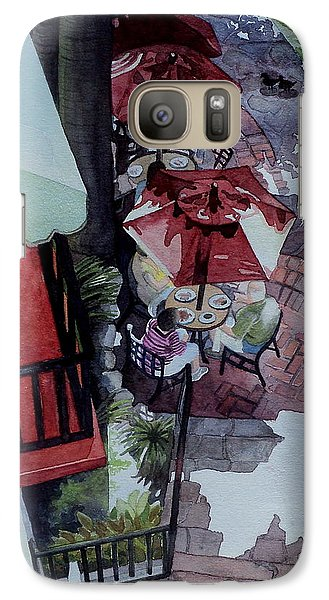 Galaxy Case featuring the painting Brunch In San Antonio by Jeffrey S Perrine
