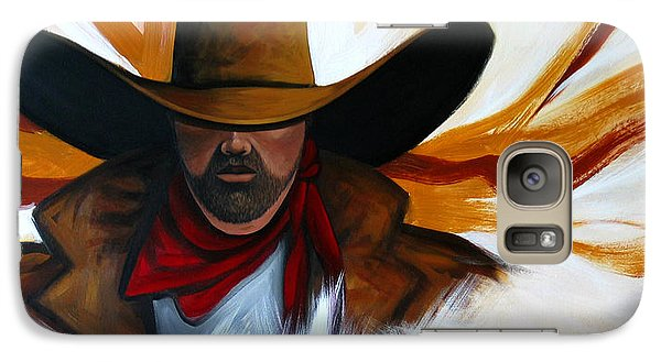 Galaxy Case featuring the painting Brushstroke Cowboy #4 by Lance Headlee