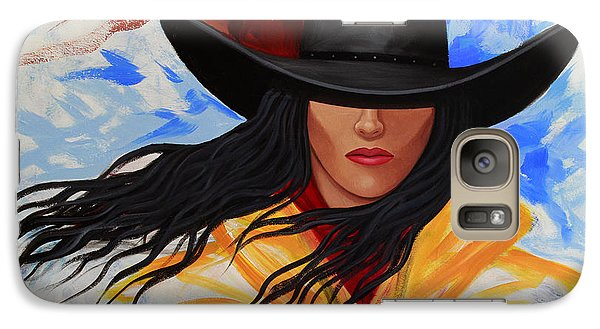 Galaxy Case featuring the painting Brushstroke Cowgirl #3 by Lance Headlee