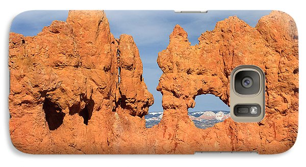 Galaxy Case featuring the photograph Bryce Canyon Peephole by Karen Lee Ensley