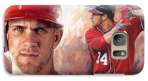 Galaxy Case featuring the painting Bryce Harper Artwork by Sheraz A
