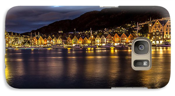 Galaxy Case featuring the photograph Bryggen At Dusk by Justin Albrecht
