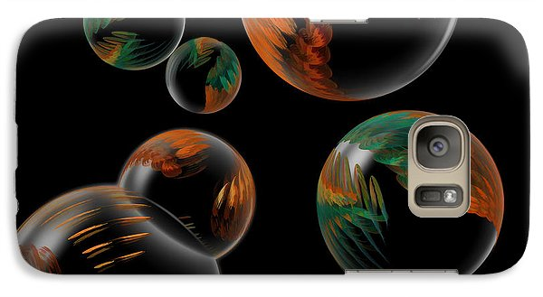 Galaxy Case featuring the digital art Bubble Farm Fractal by Kathleen Holley