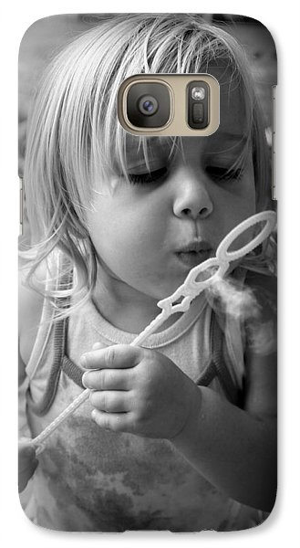Galaxy Case featuring the photograph Bubble Fun by Laurie Perry