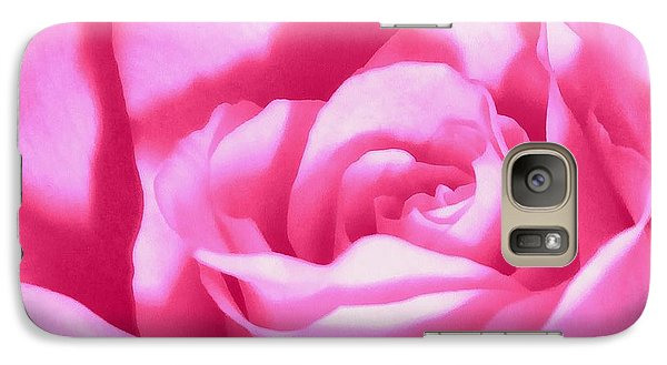 Galaxy Case featuring the photograph Bubble Gum Pink Rose by Janine Riley