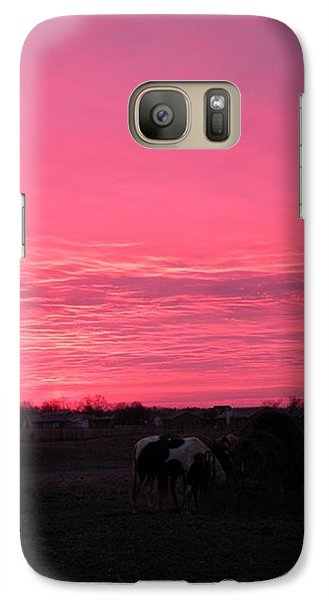 Galaxy Case featuring the photograph Bubble Gum Sunrise by Carlee Ojeda