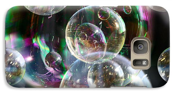 Galaxy Case featuring the photograph Bubbles And More Bubbles by Nareeta Martin