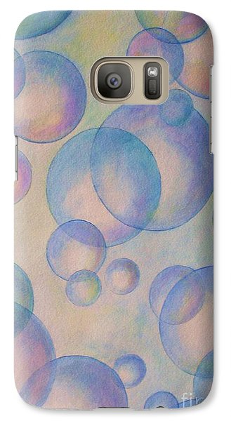 Galaxy Case featuring the painting Bubbles by Diane Miller