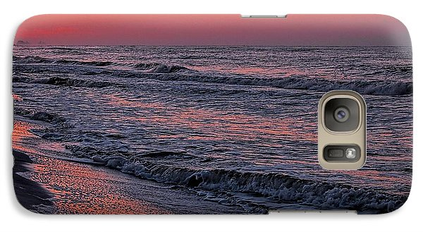 Galaxy Case featuring the digital art Bubbling Surf by Michael Thomas