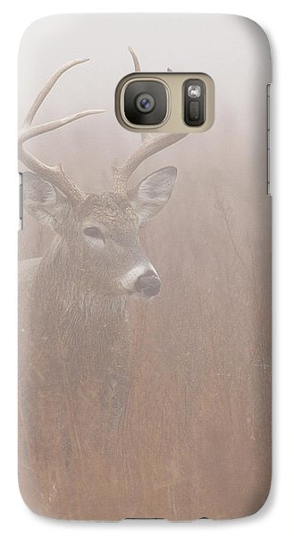 Galaxy Case featuring the photograph Buck In Fog by Rob Graham