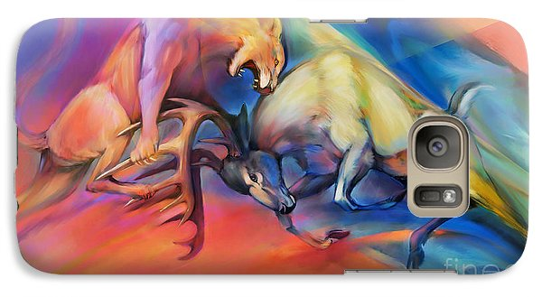 Galaxy Case featuring the painting Buck Off by Rob Corsetti