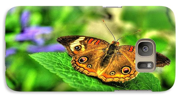 Galaxy Case featuring the photograph Buckeye Butterfly by Ed Roberts