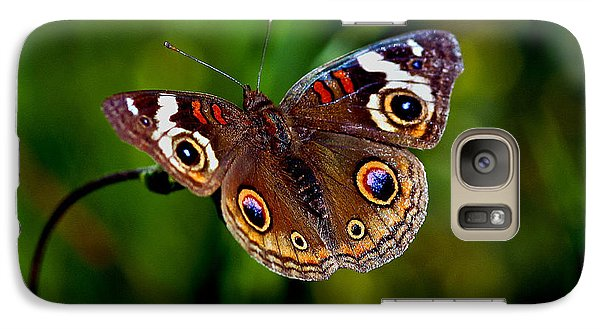 Galaxy Case featuring the photograph Buckeye Butterfly by Mitch Shindelbower