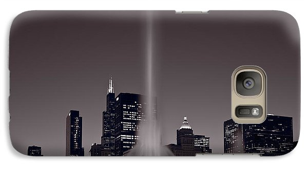 Buckingham Fountain Nightlight Chicago Bw Galaxy S7 Case by Steve Gadomski