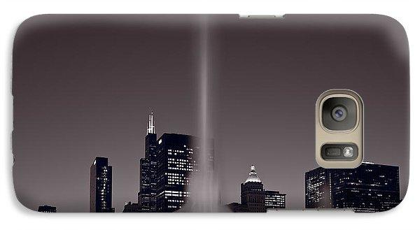 Buckingham Fountain Nightlight Chicago Bw Galaxy S7 Case