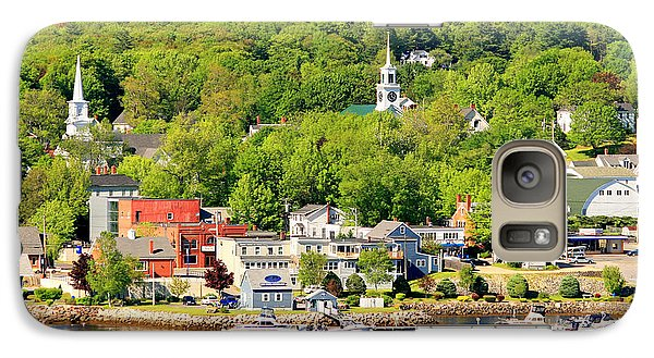 Galaxy Case featuring the photograph Bucksport Maine Waterfront by Barbara West