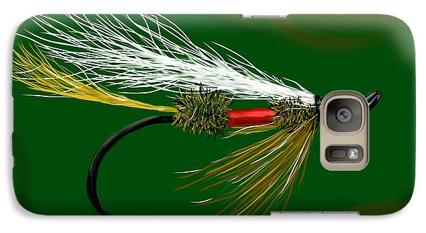 Galaxy Case featuring the painting Bucktail Royal Coachman by Jean Pacheco Ravinski