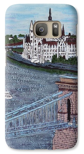 Galaxy Case featuring the painting Budapest Bridge by Jasna Gopic