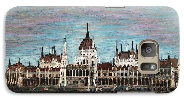 Galaxy Case featuring the painting Budapest Parliament By Jasna Gopic by Jasna Gopic