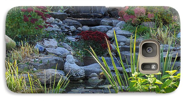 Galaxy Case featuring the photograph Buddha Water Pond by Brenda Brown