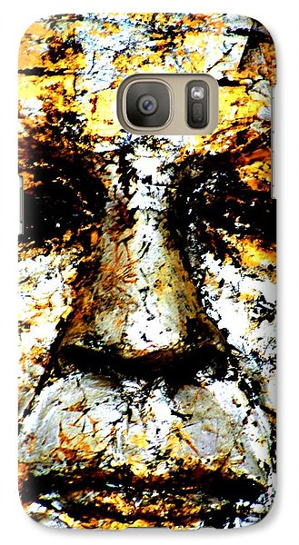 Galaxy Case featuring the photograph Buddha Face by Nola Lee Kelsey