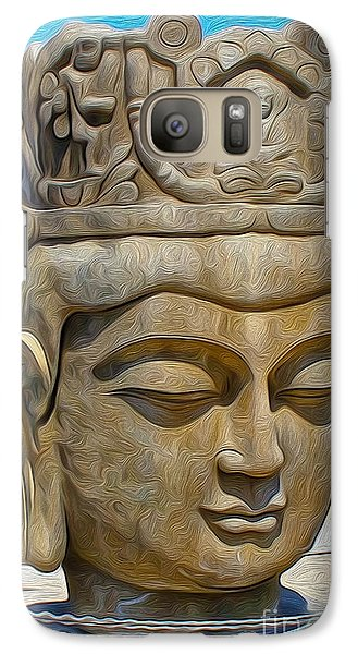 Galaxy Case featuring the painting Buddha by Gregory Dyer