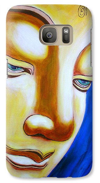 Galaxy Case featuring the painting Buddha Head Gazing Art by Bob Baker