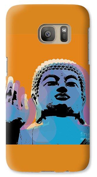 Galaxy Case featuring the digital art Buddha Pop Art - Warhol Style by Jean luc Comperat