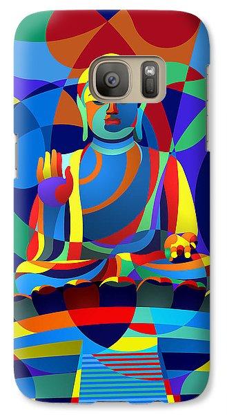 Galaxy Case featuring the digital art Buddha by Randall Henrie