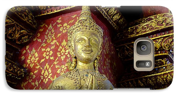 Galaxy Case featuring the photograph Buddha - Red And Gold by Dean Harte