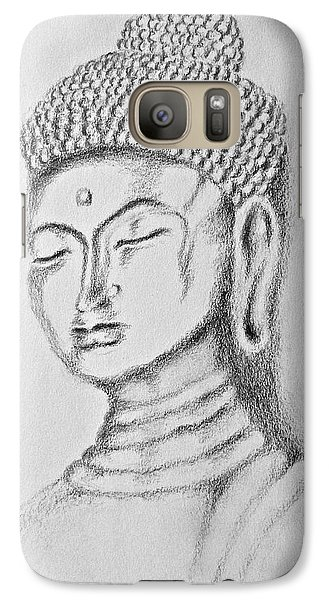 Galaxy Case featuring the drawing Buddha Study by Victoria Lakes