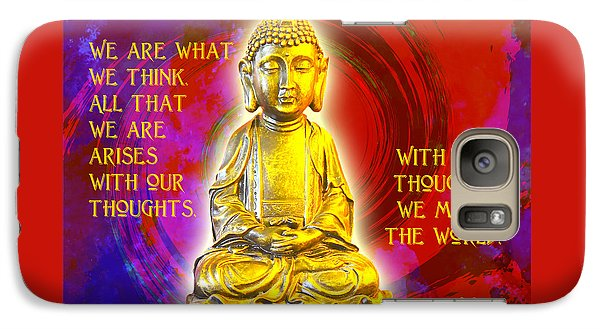 Galaxy Case featuring the photograph Buddha's Thoughts 2 by Ginny Gaura