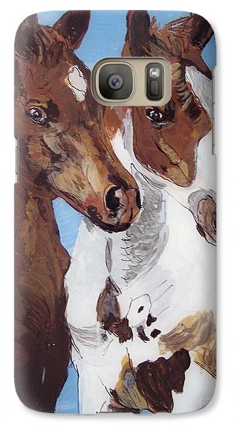 Galaxy Case featuring the painting Buddies by Lucia Grilletto