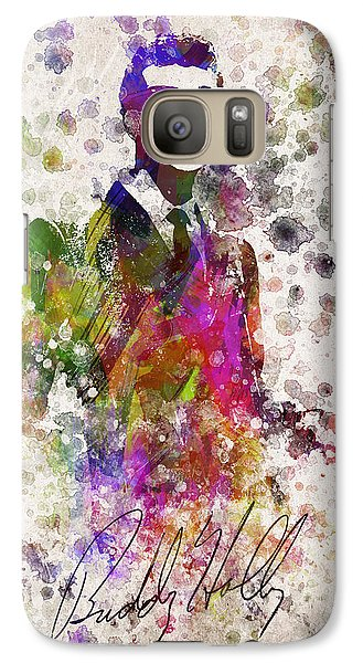 Cricket Galaxy S7 Case - Buddy Holly In Color by Aged Pixel
