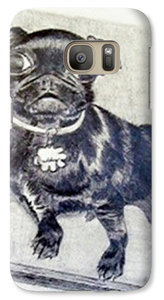 Galaxy Case featuring the drawing Buddy by Jamie Frier