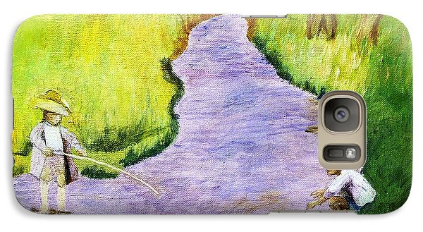 Galaxy Case featuring the painting Buddy by Artists With Autism Inc