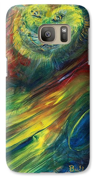 Galaxy Case featuring the painting Buddy Plays Guitar by Cathy Long