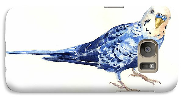 Parakeet Galaxy S7 Case - Budgie Bow by Alison Fennell