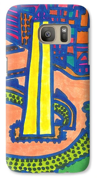 Galaxy Case featuring the drawing Buenos Aires  by Don Koester