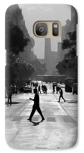 Galaxy Case featuring the photograph Buenos Aires Obelisk II by Bernardo Galmarini