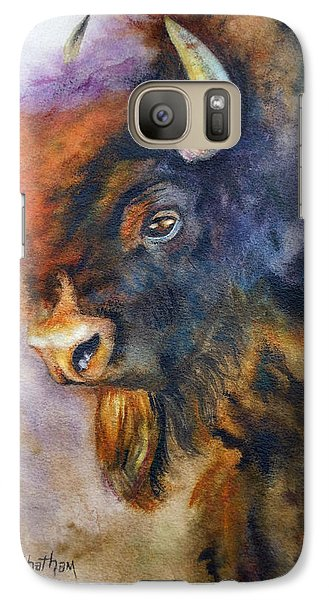 Galaxy Case featuring the painting Buffalo Business by Karen Kennedy Chatham