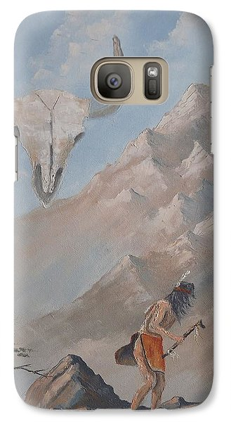 Galaxy Case featuring the painting Buffalo Dancer by Richard Faulkner