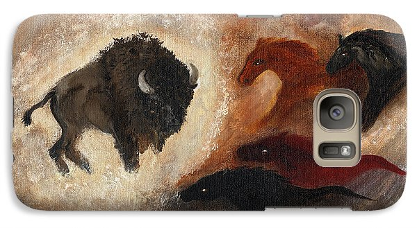 Galaxy Case featuring the painting Buffalo Dream by Barbie Batson
