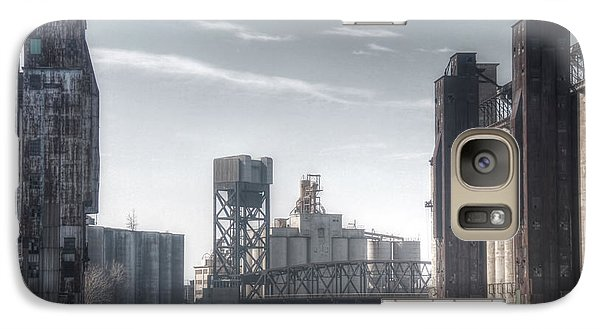 Galaxy Case featuring the photograph Buffalo Grain Mills by Jim Lepard