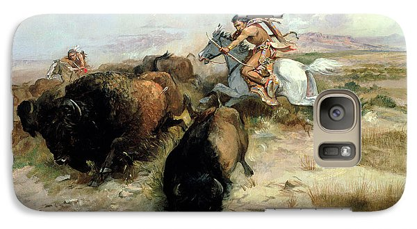 Buffalo Galaxy S7 Case - Buffalo Hunt by Charles Marion Russell