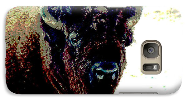Galaxy Case featuring the photograph Buffalo In Snow by Linda Cox