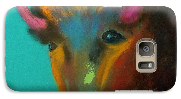 Galaxy Case featuring the painting Buffalo by Keith Thue