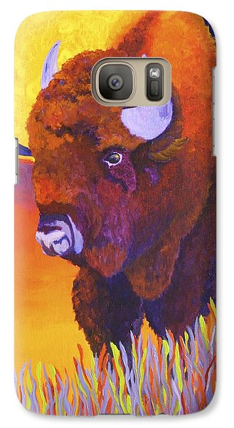 Galaxy Case featuring the painting Buffalo Moon by Nancy Jolley