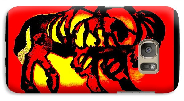 Galaxy Case featuring the photograph Buffalo Sun Set by Larry Campbell